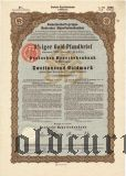 Deutschen Hypothekenbank, Meiningen, 8% iger Gold Pfandbrief, 2000 goldmark 1926