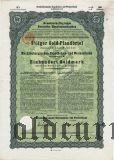 Mecklenburgischen Hypotheken- und Wechselbank, 100 goldmark 1928