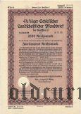 Landschaftlicher Pfandbrief, Breslau, 2000 reichsmark 1940
