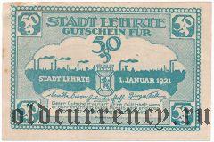 Лерте (Lehrte), 50 пфеннингов 1921 года