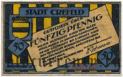 Крефельд (Crefeld), 50 пфеннингов 1921 года