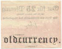 Шёнланте (Schönlante), 25 пфеннингов 1920 года. Вар. 2