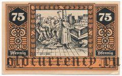 Вильснак (Wilsnack), 75 пфеннингов 1922 года