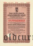 Das Berliner Pfandbrief-Amt, 1000 рейхсмарок 1941