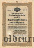 Mitteldeutsche Landesbankanleihe, Magdeburg, 1000 reichsmark 1939