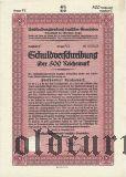 Umschuldungsverband deutscher Gemeinden, Berlin, 500 reichsmark 1933