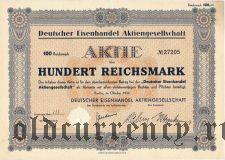Deutscher Eisenhandel, 100 reichsmark 1932