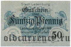 Ладенбург (Ladenburg), 50 пфеннингов 1919 года