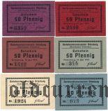 Ортенбург (Ortenburg), 50 пфеннингов 1919 года, 6 шт.