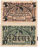 Грубе Илзе (Grube Ilse), 2 нотгельда 1921 года