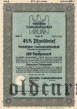 Schlesische Landeskreditanstalt, Breslau, 100 reichsmark 1939