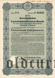 Landstandischen Bank, Bautzen, 1000 reichsmark 1939