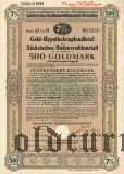 Sachsischen Bodencreditanstalt, 7%, 500 goldmark 1931