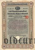 Sachsischen Bodencreditanstalt, 7%, 100 goldmark 1931