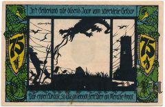 Гельдерн (Geldern), 75 пфеннингов 1921 года. Вар. 3