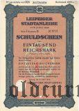 Leipziger Stadtanleihe, 1000 reichsmark 1928