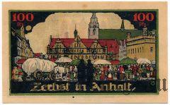 Цербст (Zerbst), 100 пфеннингов 1921 года