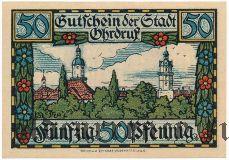 Ордруф (Ohrdruf), 50 пфеннингов 1921 года
