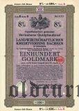 Landwirtschaftlichen Kreditvereins Sachsen, 100 goldmark 1929