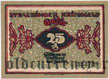Штраубинг (Straubing), 25 пфеннингов 1918 года