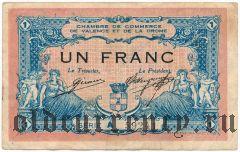 Франция, Valence, 1 франк 1915 года