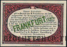 Германия, Frankfurt Oder, 10 пфеннингов 1917 года