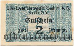 Грубе Ильзе (Grube Ilse), 2 пфеннинга (1921) года
