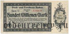 Ахен (Aachen), 100.000.000 марок 1923 года. Серия С