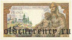 Франция, 1000 франков 1943 года