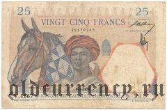 Французская Западная Африка, 25 франков 1939 года