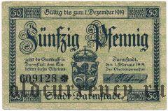 Дармштадт (Darmstadt), 50 пфеннингов 1919 года