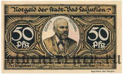 Бад-Зальцуфлен (Bad Salzuflen), 50 пфеннингов 1921 года. Вар. 2