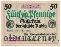 Рула (Ruhla), 50 пфеннингов 1920 года