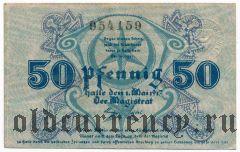 Галле (Halle), 50 пфеннингов 1917 года