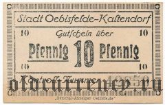 Эбисфельде-Кальтендорф (Oebisfelde-Kaltendorf), 10 пфеннингов (1920) года