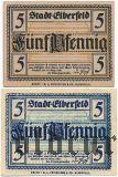 Эльберфельд (Elberfeld), 2 нотгельда 1920 года