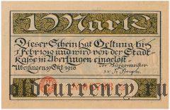 Юберлинген (Überlingen), 1 марка 1918 года