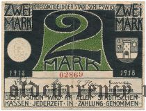 Шлезвиг (Schleswig), 2 марки 1918 года
