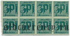 Пассау (Passau), 3 пфеннинга (1921) года. Сцепка из 8 шт.