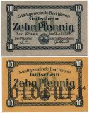 Бад-Кёзен (Bad Kösen), 2 нотгельда 1918 года