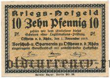 Остхайм (Ostheim), 10 пфеннингов 1918 года