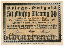 Остхайм (Ostheim), 50 пфеннингов 1918 года
