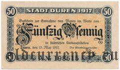 Дюрен (Düren), 50 пфеннингов 01.05.1917 года