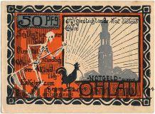 Олау (Ohlau), 50 пфеннингов 1921 года. Вар. 4