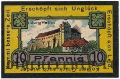 Веттин (Wettin), 10 пфеннингов 1921 года