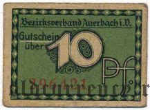 Ауэрбах (Auerbach), 10 пфеннингов 1920 года