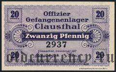 Германия, Clausthal, 20 пфеннингов 1917 года