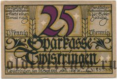 Твистринген (Twistringen), 25 пфеннингов 1921 года