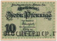 Лёбау (Löbau), 10 пфеннингов 1918 года