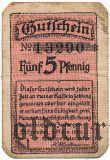 Зальцведель (Salzwedel), 5 пфеннингов 1921 года